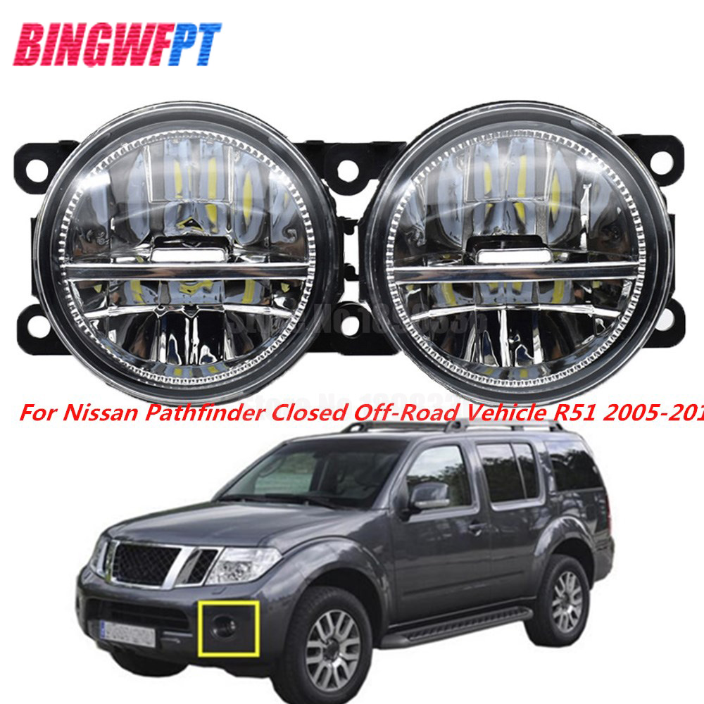 1Pair High Quality Supre Bright Fog Light LED Fog Lamp For Nissan Pathfinder Closed Off-Road Vehicle R51 2005-2012