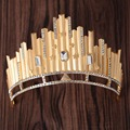 Miss beauty big crowns Elegant Top quality Women party show hair tiaras gold crystal hairwear hair accessories Bridal hairwear