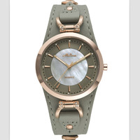 Melissa Cool Neutral Designer Women Real Leather Wrapped Watches Simple Fashion Unisex Quartz Wrist watch Shell Feminino Montre
