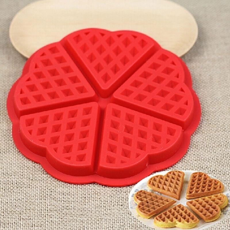 1PCS Silicone Waffle Mold Maker Pan Microwave Baking