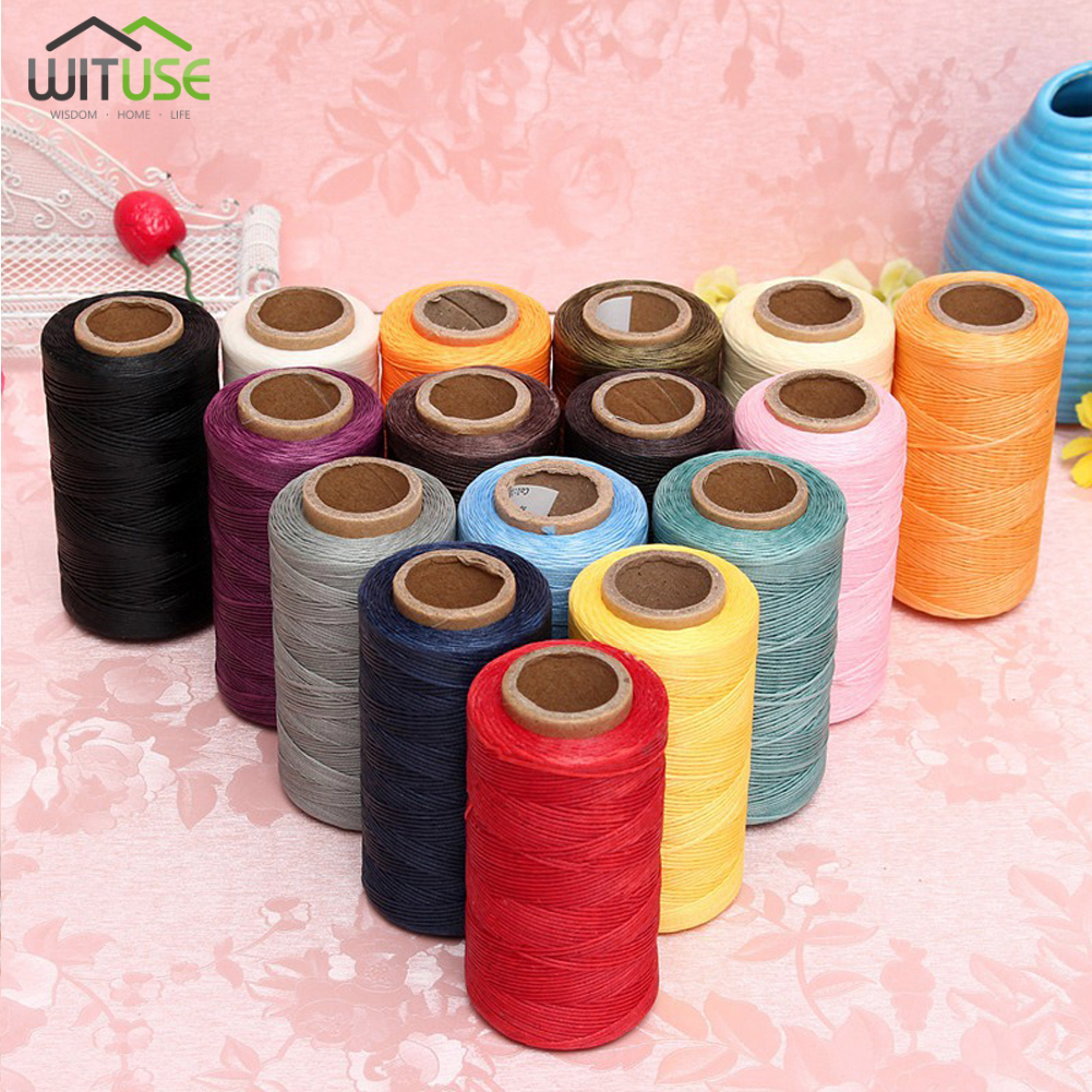 16 Waxed Thread Repair Cord String Sewing Hand Wax Stitching DIY Thread 1mm* 260m For Leat
