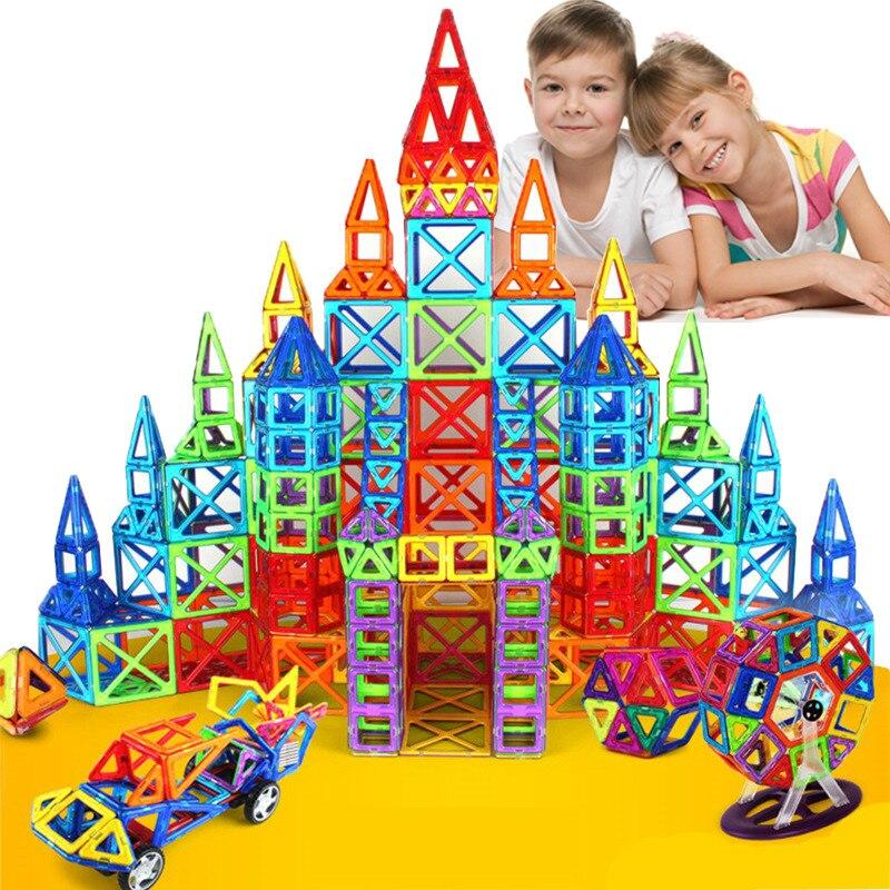 Grande taille 135 pièces ensemble de Construction de concepteur magnétique modèle et jouet de Construction blocs magnétiques en plastique jouets éducatifs pour enfants cadeau