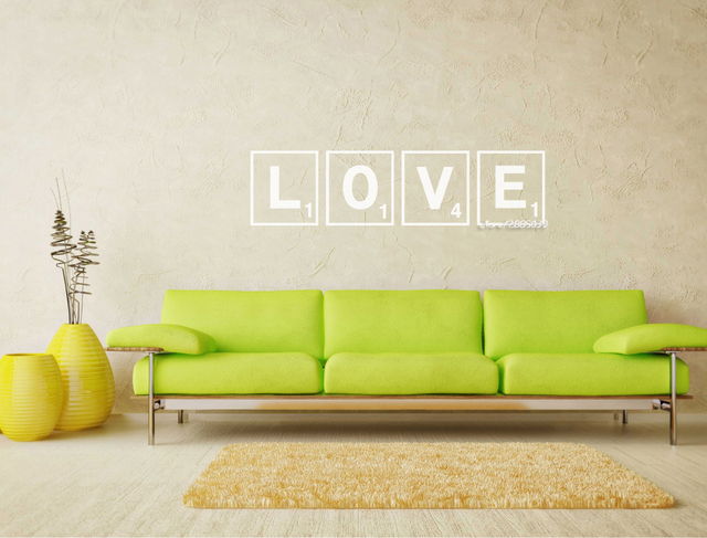 Love Scrabble Letters For Wall Stickers Artistic Design Decal Home Decor Living Room Wallpaper New Arrivals Poster Sa695