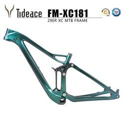 Toray T800 XC pełna zawieszenie rama do roweru górskiego rower górski 29er 142/148mm rama karbonowa mtb UD 27.5er wzmocnienie rama zawieszenia w Ramy rowerowe od Sport i rozrywka na