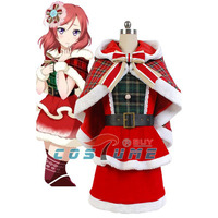 Love Live Christmas Cosplay Costume LoveLive Maki Nishikino Christmas Cosplay Costume For Adult Women Girls