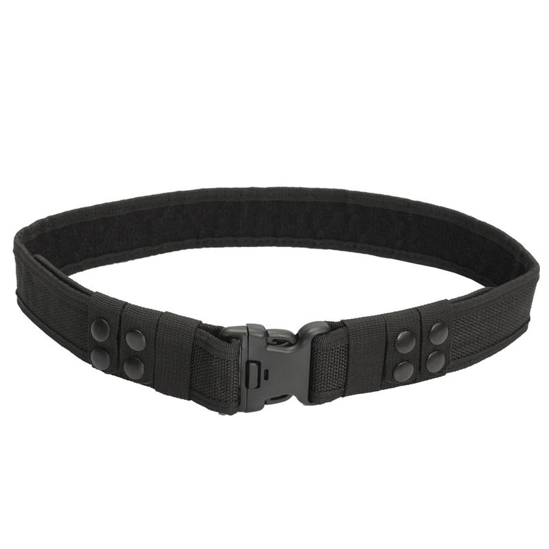 Durable Quality Nylon Black Heavy Duty Belt Security Guard Parametic For Police Utility Belt Quick Release Waistband rocotactical basketweave police duty belt web duty belt with loop liner