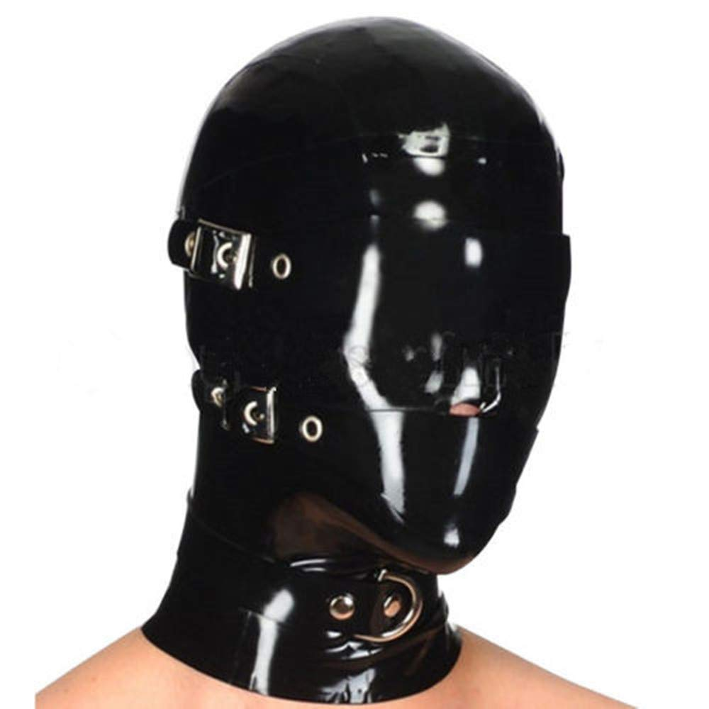 Latex Mask Sexy Rubber Unisex Hood Gummi Catsuit Wear sex toys for couples bdsm mask bdsm