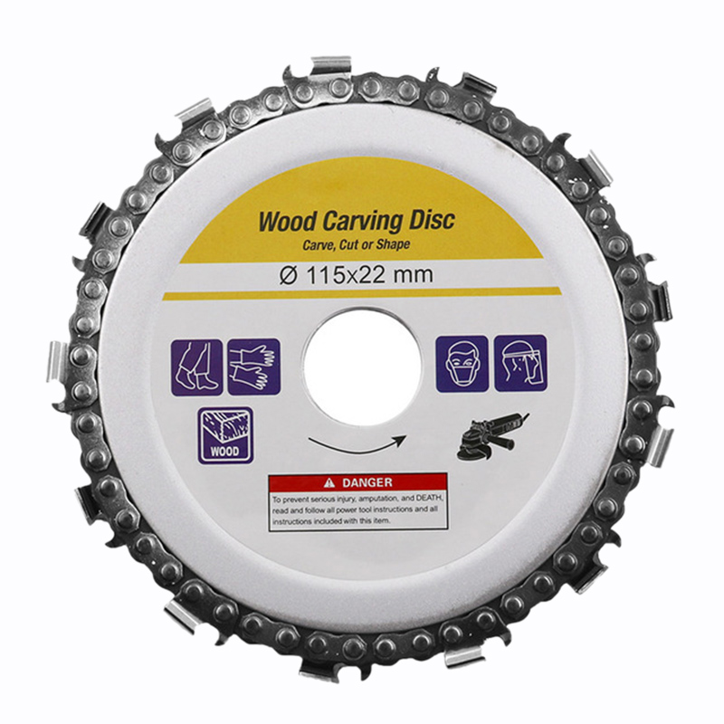 4.5 Inch Circular Saw Blade Chainsaw Chain Wood Carving Disc Woodworking Angle Grinders Universal For Wood Cutting Discs