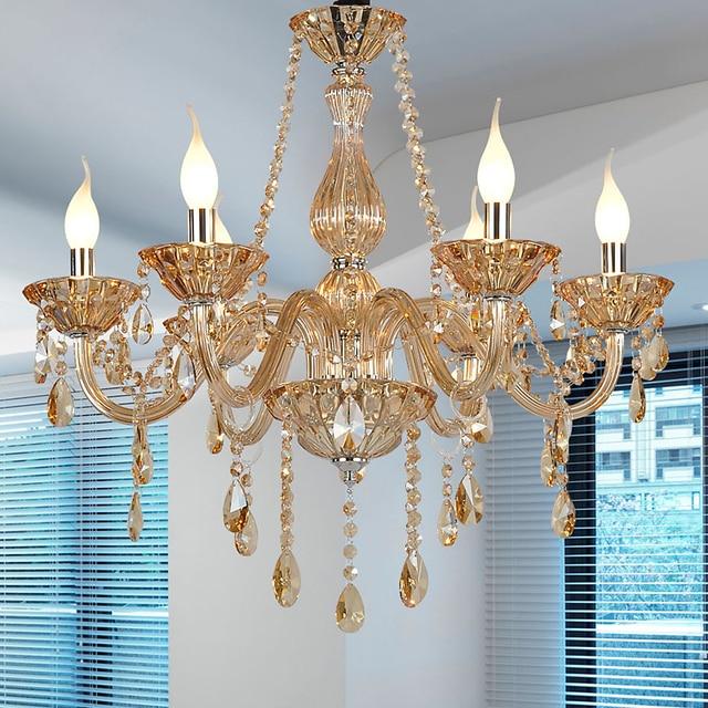 US $134.0  Lampadari moderni Per camere da letto Lustro Colore Cognac  lampadario Cucina Lampadari Pendientes cucina moderna lampada fixtures in  ...