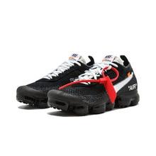 Original NIKE Air VaporMax x OFF-WHITE Run Men's Running Shoes Sneakers