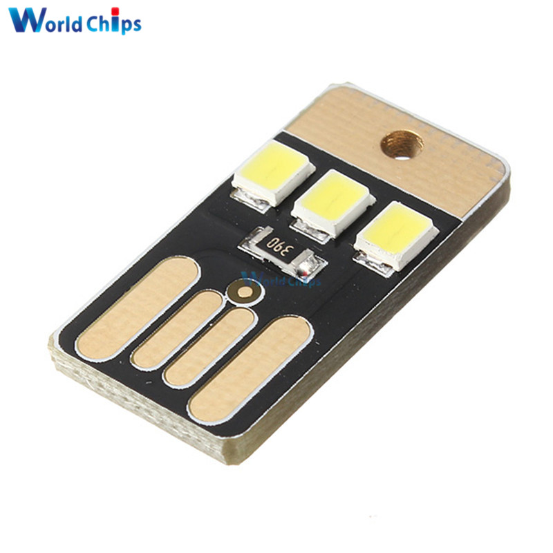 Electronic Components & Supplies Integrated Circuits 10pcs Card Lamp Bulb Led Keychain Mini White Led Night Light Portable Usb Power