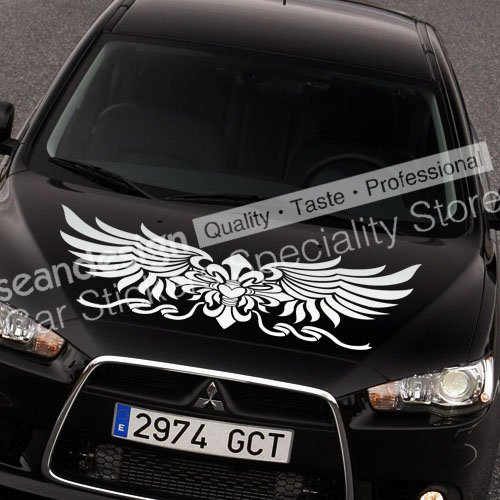 Totem wing series tt026 a auto car decal sticker pvcblackwhite