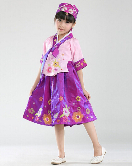 c73843e691e3 Yukata Traditional Japanese Kimonos Color Children Hanbok Dress Baby ...