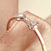 Natural Ring Diamond for Women 0.01CT SI / H Genuine Natural Diamond Solid 18K Rose Gold Wedding Bands Engagement Luxury Jewelry
