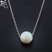 สีขาวโอปอลไฟสร้อยคอสำหรับผู้หญิง925โซ่สีเงินธรรมชาติหินจี้คอเลดี้แฟชั่น
