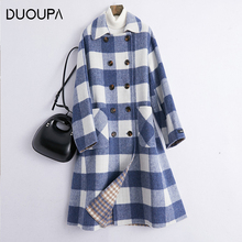 DUOUPA 2019 Spring New Handmade Wool Double-faced Coat Woolen Female Long Section Was Thin Korean Version