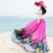 Saia Saias Longas Brand Boho Style Long Maxi Skirt Pleated Skirts Women's Clothes 2016 Vintage Long Chiffon Skirt Female
