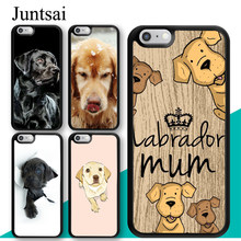 Juntsai Labrador Dog Golden Retriever Puppy Phone Case for iphone X XR 5 5s 6 6s 7 8 Plus TPU Back Cover Coque For iphone XS MAX(China)