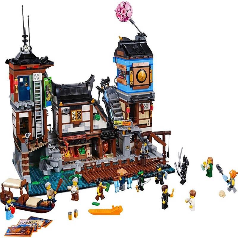 LEPIN 06083 Ninja Series 3979pcs The City Docks Model Building Block Bricks set Toys For children Legoing 70657 Gift lepin 16001 4705pcs city street series ghostbusters firehouse headquarters building block bricks kids toys for gift 75827