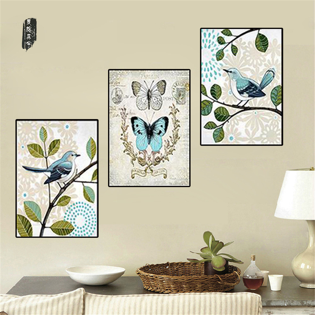 Us 6 01 38 Off Wall Pictures For Living Room Paintings Birds Abstract Mordern Wall Art Butterfly Canvas Painting Posters And Prints Nordic In