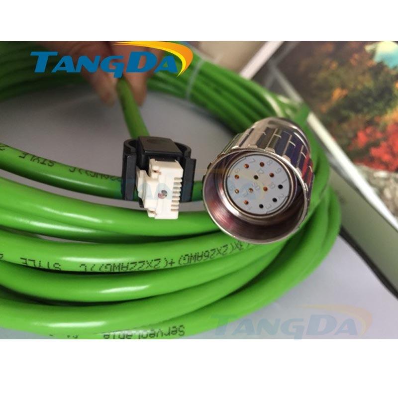 Tangda Servo motor code line series connection wire Cable 5 meters VW3M8102R30 VW3M8102R100 LXM32 tangda servo motor code line series connection wire cable 5 meters mr j3encbl3m a1 l j4 je series motor signal hc kf
