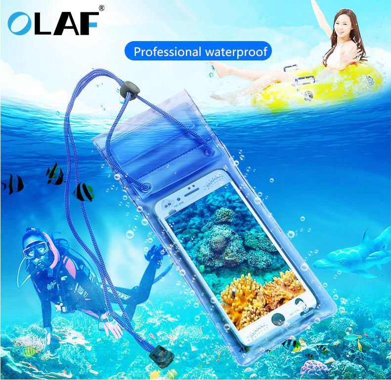 Waterproof Underwater PVC Package Pouch Diving Bags For iPhone Outdoor Mobile Phone Pocket Case For Samsung Xiaomi HTC Huawei 3