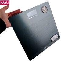 Deli 8881 emisión de voz Electrónica escala de salud escala de peso KG/LB/ST 3 unidades 5-180 kg pantalla de retroiluminación LED de encendido Automático