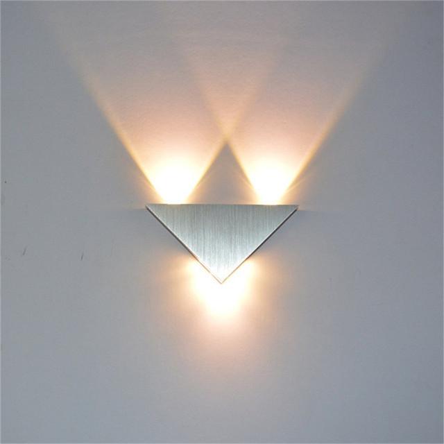 Triangular LED Indoor Wall Lamp