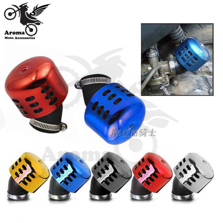 colorful decal 35mm metal air systems scooter unviersal moto air cleaner for honda suzuki yamaha Kawasaki motorcycle air filter