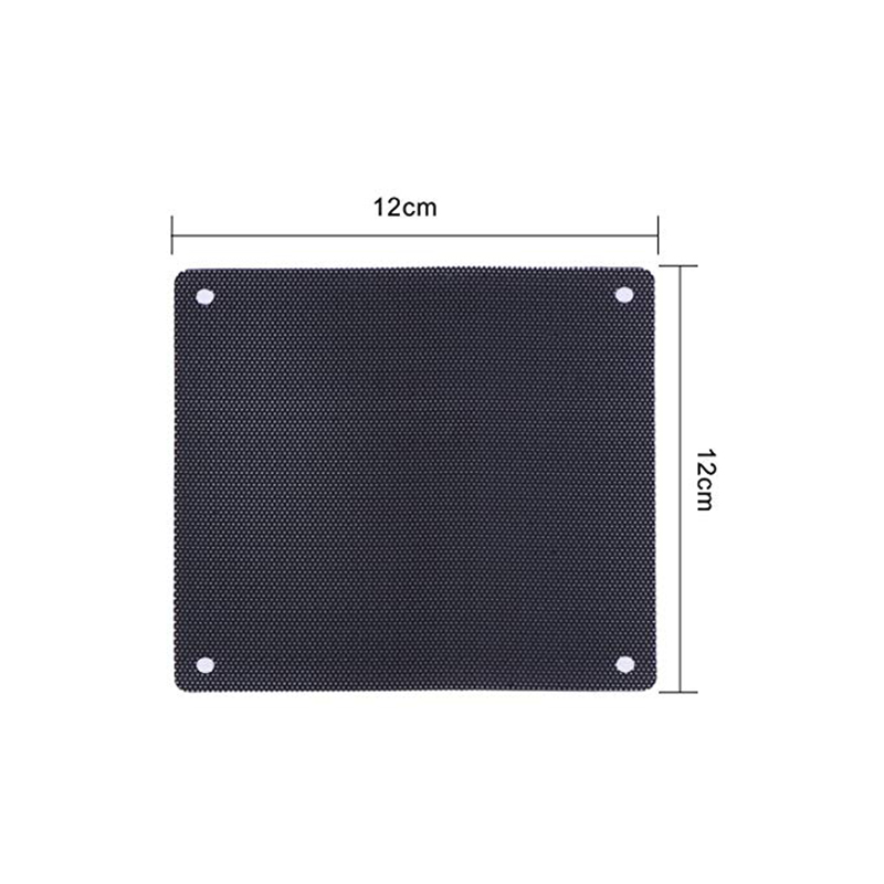 Image 2 - 120 mm Dust Filter Computer Fan Filter Cooler PVC Black Dustproof Case Cover Computer Mesh 10 Packs with 40 Pieces of Screws-in Fans & Cooling from Computer & Office