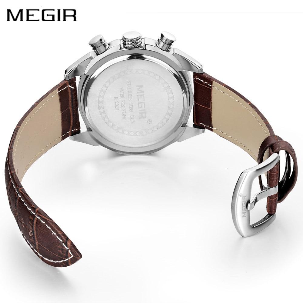 Autentyczne męskie zegarki kwarcowe MEGIR zegarki z prawdziwej - Męskie zegarki - Zdjęcie 3