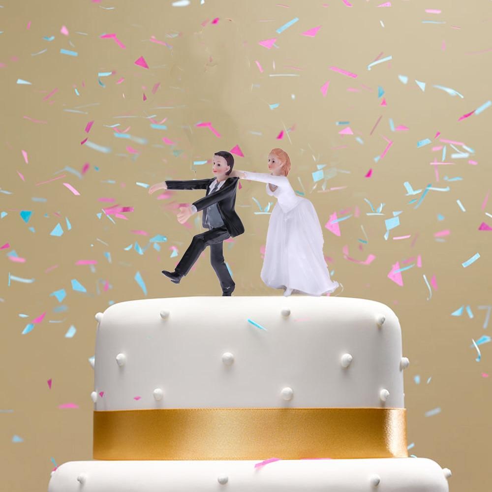 Nette Synthetische Harz Braut Brautigam Hochzeit Kuchen Topper