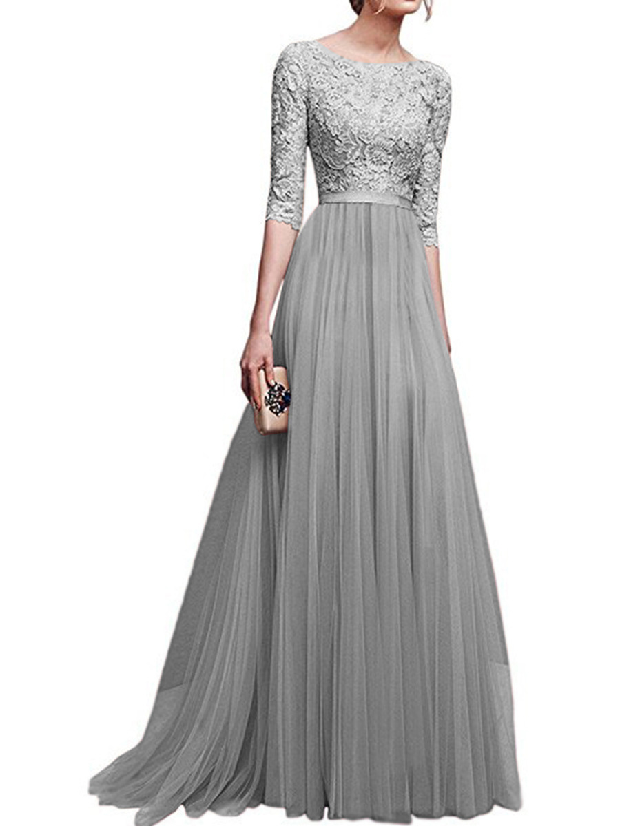 Women Dress Elegant Lady Dresses Gown Formal Dress Women Office Long ... 26414674c882