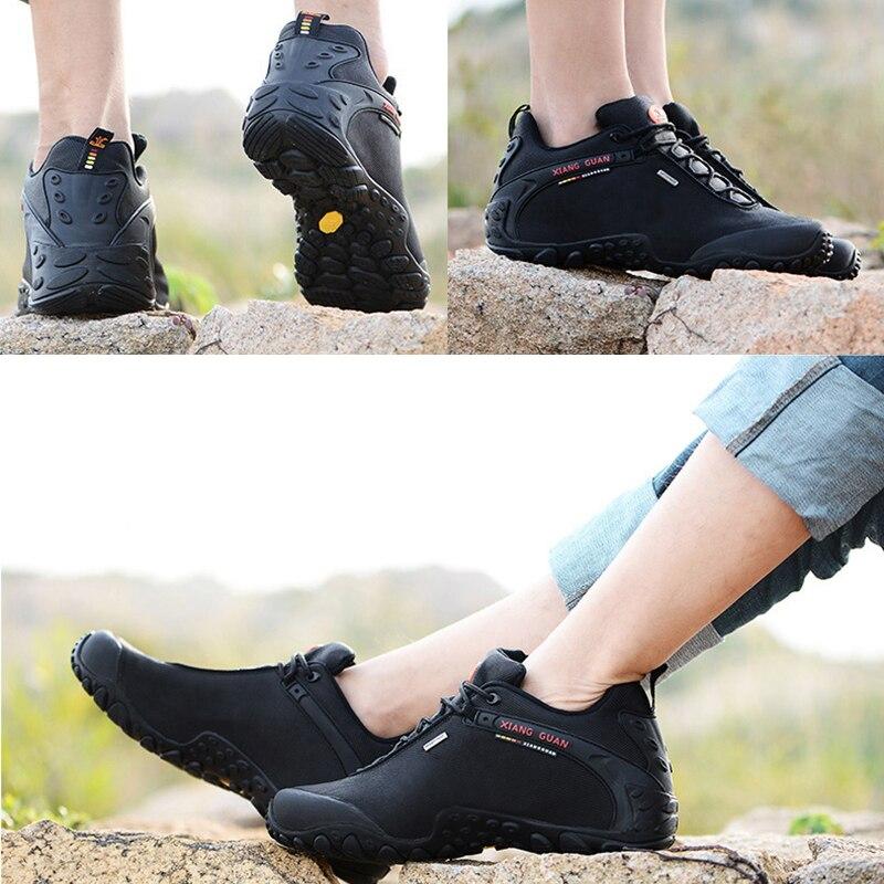 翔関男性屋外登山靴のユーロサイズ 36 48 女性通気性アンチスキッド防風黒旅行靴トレンドスポーツスニーカー  グループ上の スポーツ & エンターテイメント からの ハイキング靴 の中 2