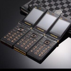 """Image 5 - Männer Flip Touch Big Screen 3,0 """"Display Business Telefon Schnell SOS Schlüssel Metall Körper Senior Nicht smart Mobile handy M2 P302"""