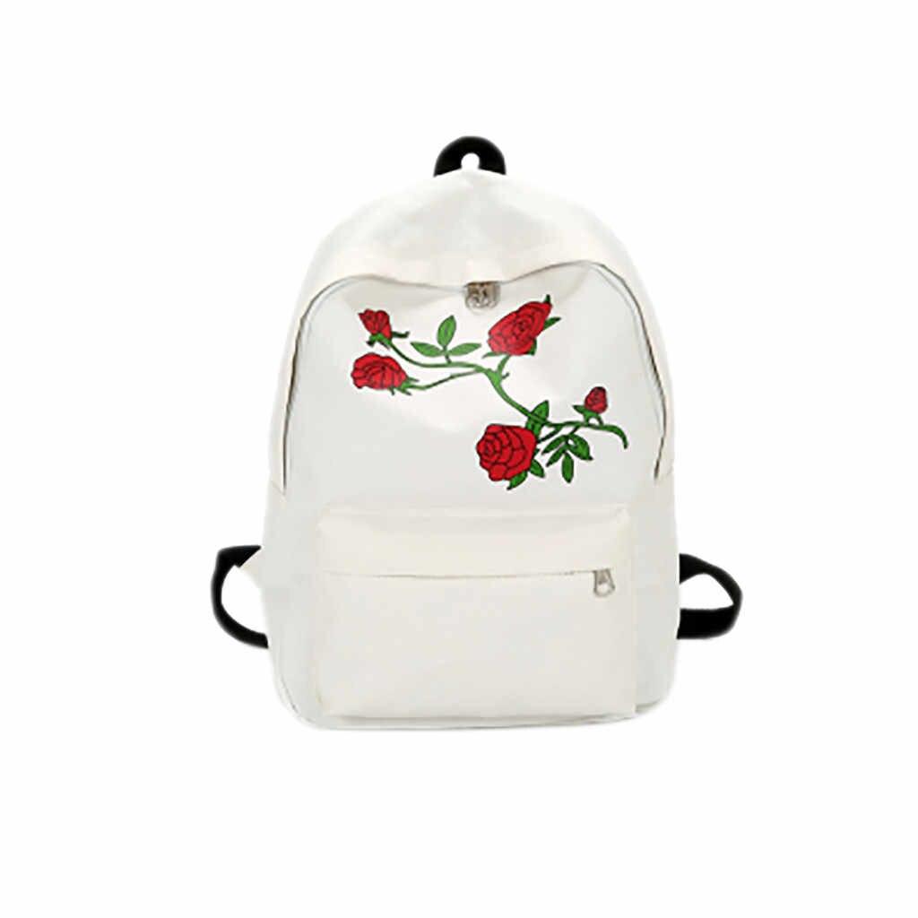 נשים בד תרמיל בית ספר בני נוער בנות מזדמן כתף שקיות הדפסת עלה בית ספר תיק נסיעות תרמיל תיק כתף תיק