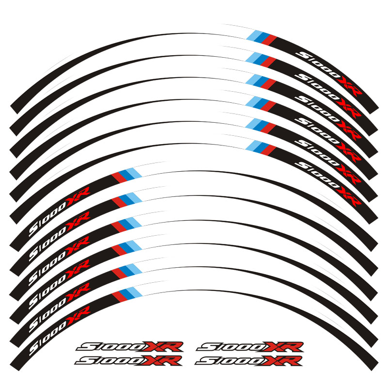 Motorcycle Wheel Decals Reflective Stickers Rim Stripes For BMW S1000XR S1000 XR Motorbike S1000XR 7 Color