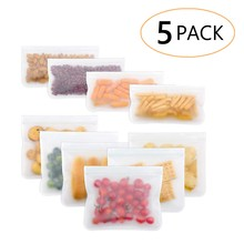 Silicone Food Storage Containers Reusable Food Saver Fresh Bags Fruit Meat Milk Refrigerator Vacuum Sealed Bag Kitchen Container(China)
