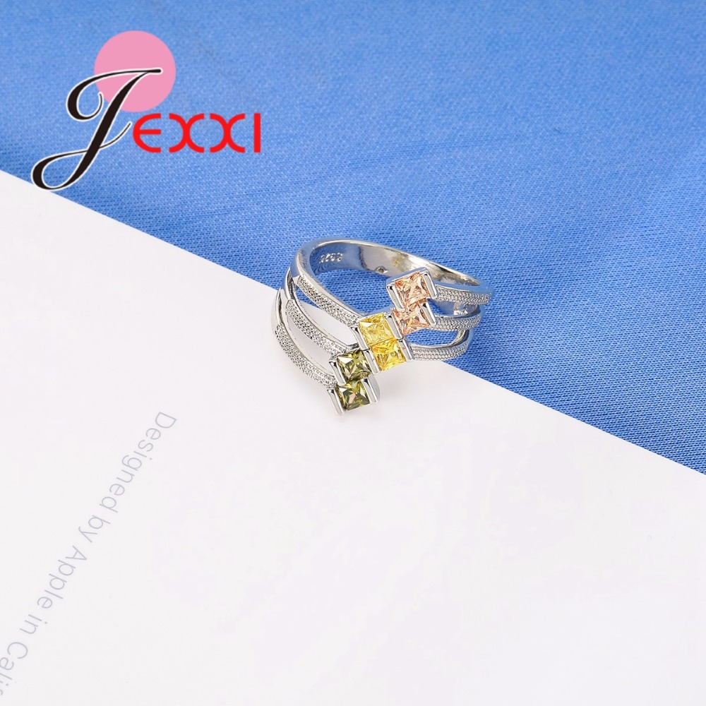 JEXXI Big Size 925 Sterling Silver Ring Paved AAA Clear Cubic - Märkessmycken - Foto 5