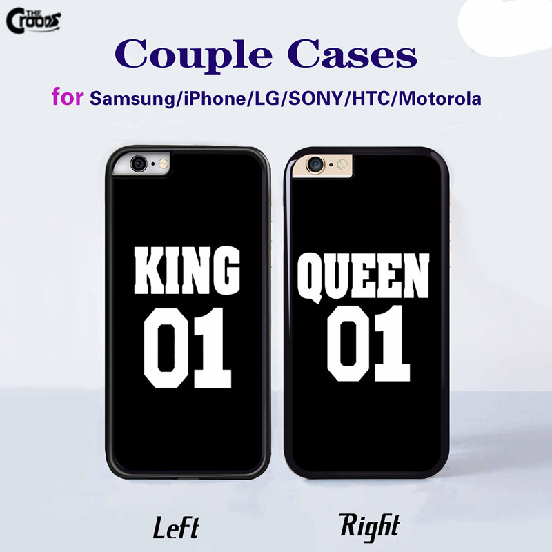 King Queen Brand Couple Case mobile phone cases Cover for Samsung galaxy s3 s4 s5 mini s6 edge s7 plus Note 3 4 4 5 j3 j5 A5 A7