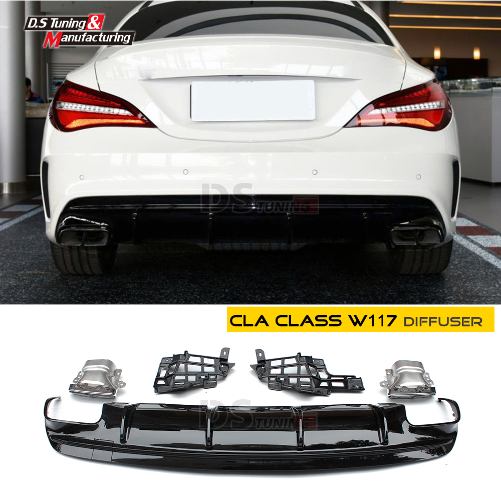 Rear Bumper Diffuser And Exhausts For Mercedes Cla Class C117 X117 W117 Sports Cla45 New: Cla Amg Exhaust At Woreks.co