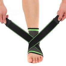 3d Weaving Pressurized Bandage Elastic Nylon Strap Ankle Support Brace Basketball Football Taekwondo Fitness Heel Protector Gym