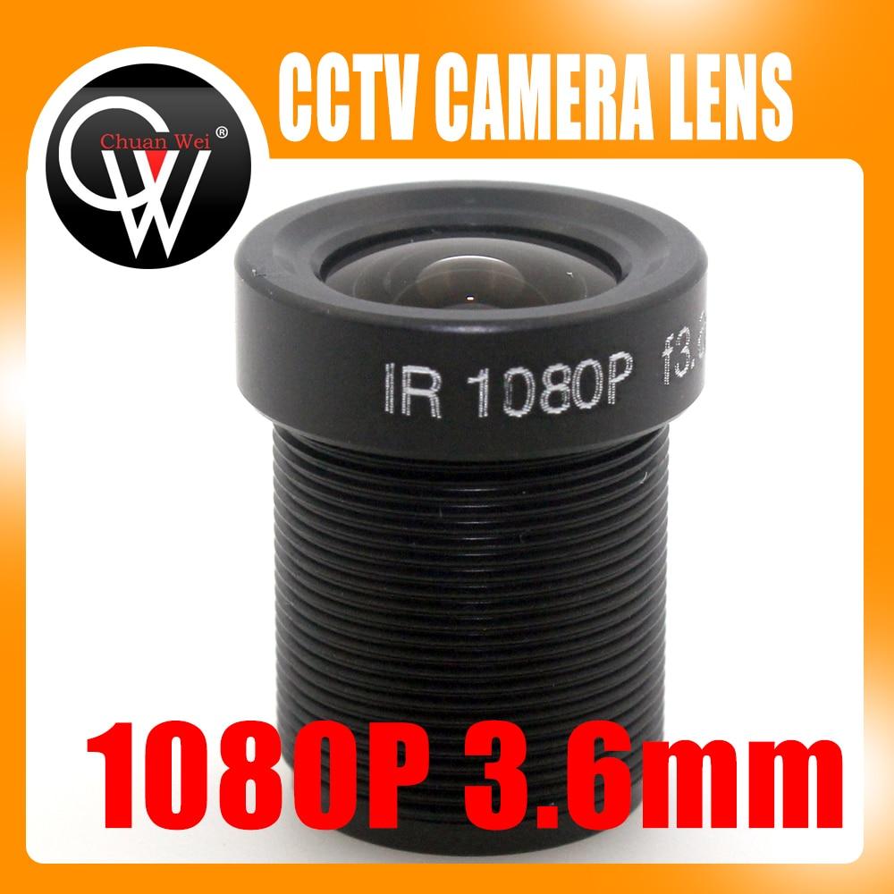 5PCS/LOT 1080p 3.6mm lens IR MP Lens Monofocal Fixed Iris Board Mount Lens for CCTV ip Camera cs 8mm cctv camera lens fixed iris monofocal alloy with nail