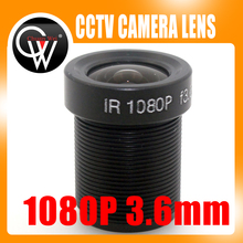 5PCS/LOT 1080p 3.6mm lens IR MP Lens Monofocal Fixed Iris Board Mount Lens for CCTV ip Camera