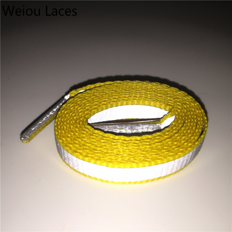 Weiou Athletic 4M Flat Reflective Shoe Laces Night Safe Outdoor Sport Bootlaces High Visibility Shoelaces Strings For Sneakers