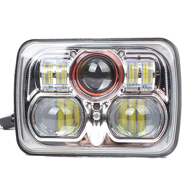 2pcs 7inch 54W LED HEADLIGHT FOR Truck Offroad With HI/LO Beam REPLACEMENT KIT FOR MOTORCYCLE Wrangler JK LJ TJ XJ Truck Offroad
