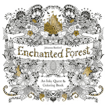 2015 Enchanted Forest An Inky Quest Coloring Book For Children Adult Relieve Stress Kill Time