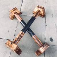 Special wooden Carbide wood 2PCS H Shaped Wooden Calisthenics Handstand Parallel Bar Double Rod Push Up Stand