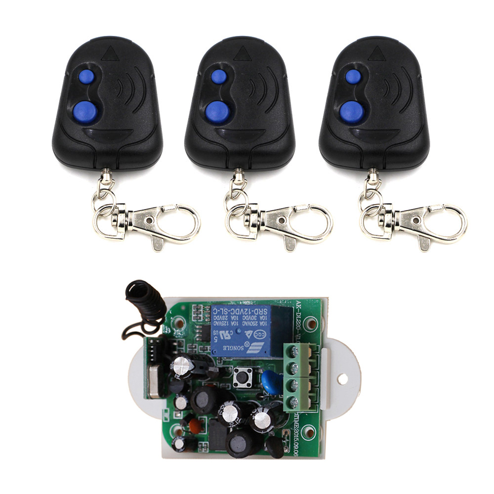 New Wireless Remote Control Switch AC 85V ~ 250V 110V 220V 1CH Relay Receiver Module and Remote Controls 315/433mhz High Quality new arrival ac 110v 220v relay 1ch wireless remote control switch receiver module and rf remote controls 315 433mhz