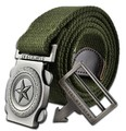 PentagramHot NOS Men Canvas Outdoor Belt Military Equipment Cinturon Western Strap Men's Belts Luxury For Men Tactical 110cm